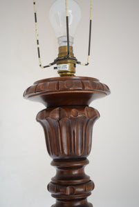 Antique Solid Mahogany Floor Standard Lamp