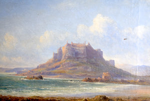 Oil On Canvas Mounts Bay Cornwall