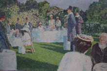 Load image into Gallery viewer, Oil On Board Summer Garden Party