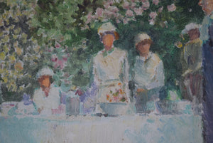 Oil On Board Summer Garden Party