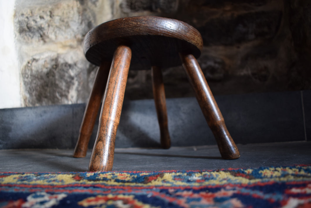 Antique Oak Country Stool