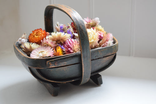 Antique Green Mini Garden Trug