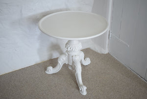 White Painted Low Side Table