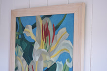 Load image into Gallery viewer, Oil on Board Lilies In Bloom