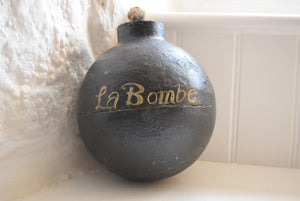 Antique Cast Iron Cannonball Bomb Doorstop