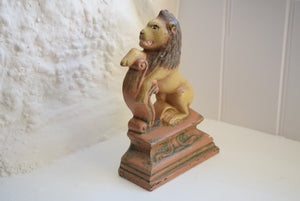 Antique Victorian Cast Iron Lion Doorstop