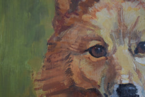 Oil Painting Corgi