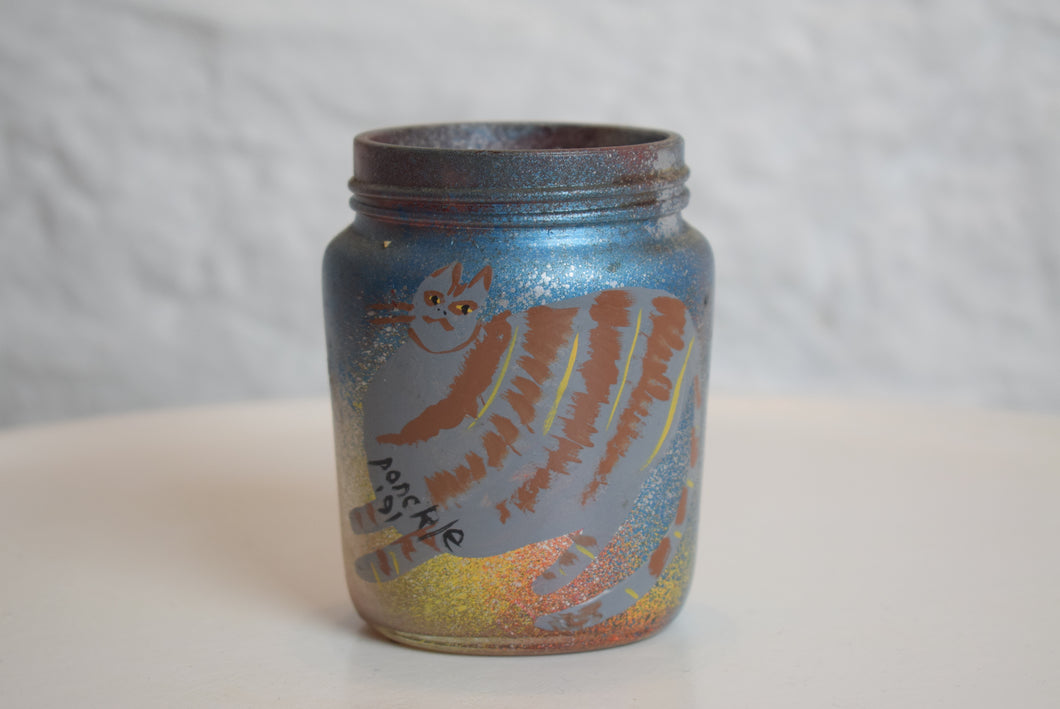 Ponckle Fletcher Original Hand Painted Jar