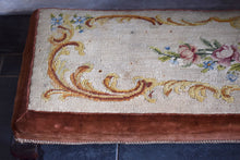 Load image into Gallery viewer, Antique Needlepoint Long Footstool