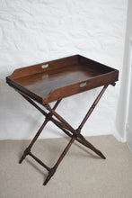 Load image into Gallery viewer,  Mahogany Butlers Tray on Stand