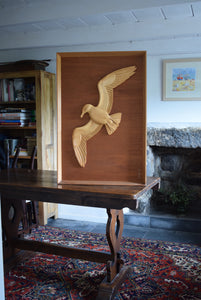 Wharton Lang St Ives Sea Bird Wood Carving Sculpture
