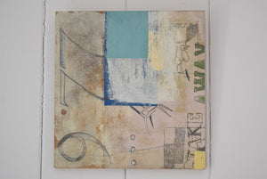 "Mixed Media on Board ""Falling"" Signed V.Fricke"