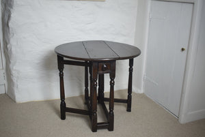 Antique Oak Gate Leg Table Small