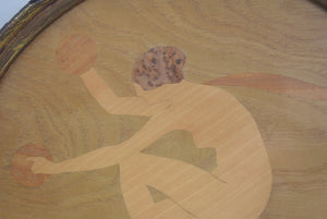 Marquetry Panel Dancer With Cymbals