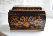 Load image into Gallery viewer, Regency Period Penwork Sarcophagus Tea Caddy