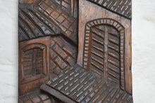 Load image into Gallery viewer, carved hardwood panel Street Scene