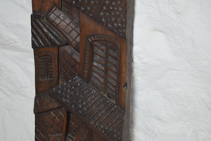 carved hardwood panel Street Scene
