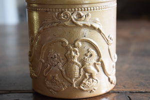 Antique early Stoneware Jar With Armorial Crest