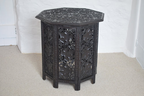 Anglo-Indian Octagonal Folding Table