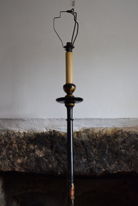 Black Japanned chinoiserie Floor Lamp