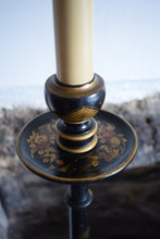Load image into Gallery viewer, Black Japanned chinoiserie Floor Lamp