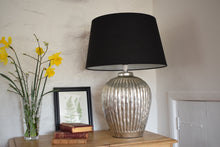 Load image into Gallery viewer, Large Silver Ceramic Table Lamp