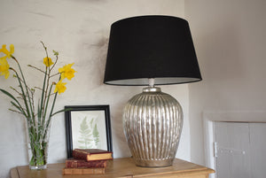 Large Silver Ceramic Table Lamp