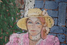 Load image into Gallery viewer, Portrait of a seated woman in Pink