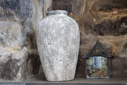 Tall Stone Effect Ceramic Vase