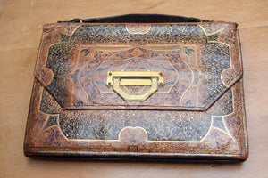 Vintage Italian Tooled Leather Handbag