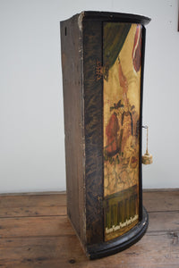 Antique painted corner cabinet