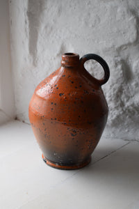 Vintage French Pottery Flagon