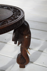 Antique Wooden Elephant Table