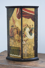 Load image into Gallery viewer, Antique painted corner cupboard