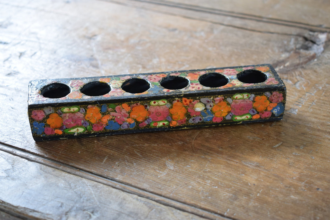Persian Lacquer Box Painted with flowers