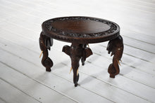 Load image into Gallery viewer, Antique Wooden Elephant Table