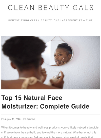 DEMES Nourishing Face Cream featured in Clean Beauty Gals article