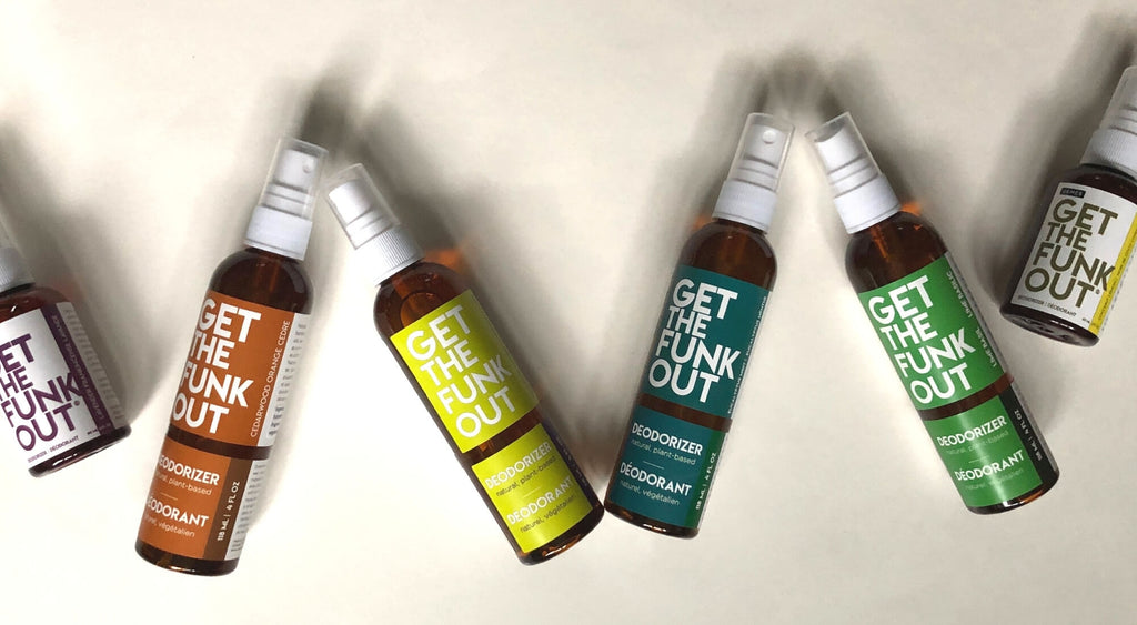 Get the Funk Out deodorant deodorizer natural plant-based gtfo