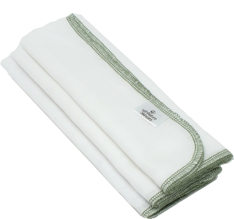Pure & Gentle Muslin Face Cloths (Pack of 3)