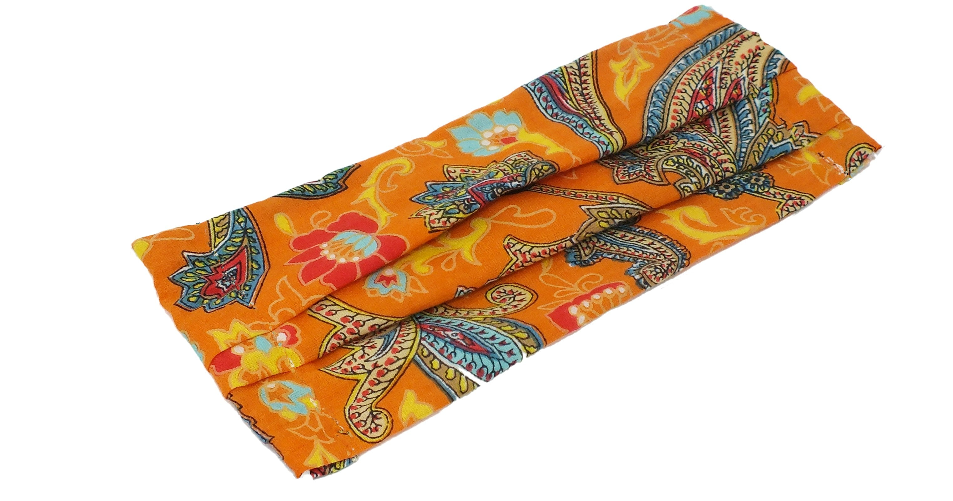 Eco-Friendly Face Mask/Covering - Orange Paisley