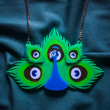 Peacock - Statement Necklace