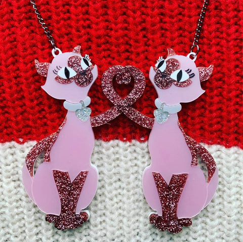 Love Cats - Valentine's Necklace
