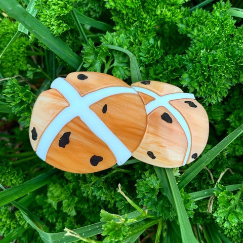 Hot Cross Buns - Brooch