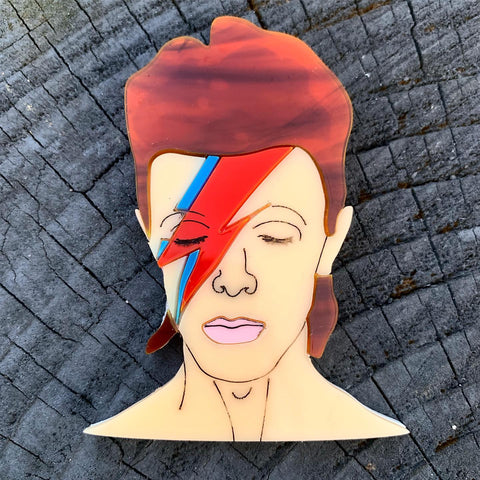 Bowie - Brooch