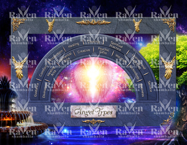 10 Cosmic Dimensions - Angel Chart