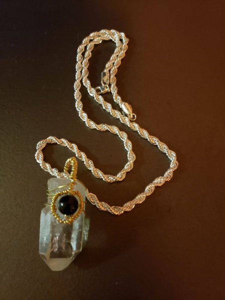 Guardian Crystal Pendant (1''-3'' inches Qaurtz )