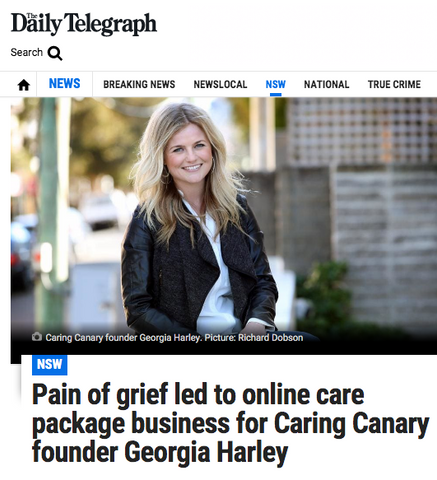 Caring Canary in The Daily Telegraph