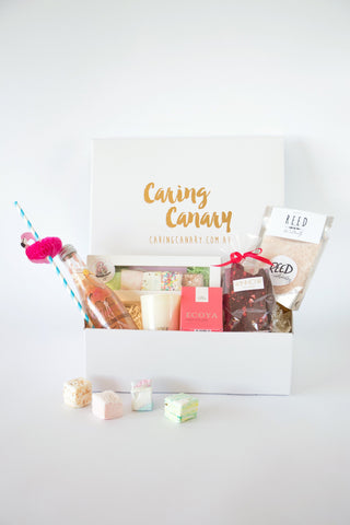 Absolutely Fabulous care package - Caring Canary