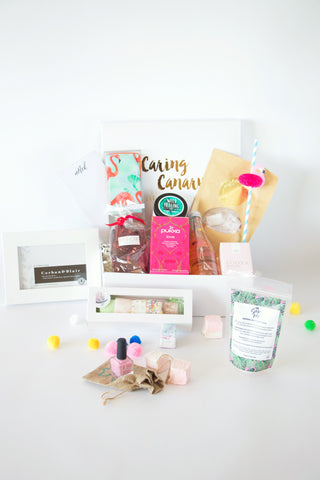 You Deserve All The Happiness In The World care package - Caring Canary