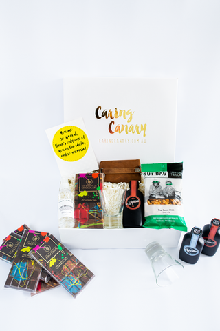 Mr Indulge care package - Caring Canary